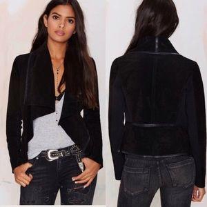BlankNYC Wild Thang Genuine Suede Jacket